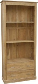 BROOKLYN OAK 2 DRAWER BOOKCASE