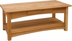BROOKLYN OAK COFFEE TABLE WITH DRAWER