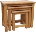 BROOKLYN OAK NEST OF 3 TABLES