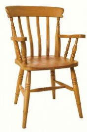 Slat Carver Beech Dining Chair