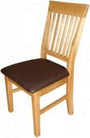 MODERN SHAKER SOLID OAK DINING CHAIR