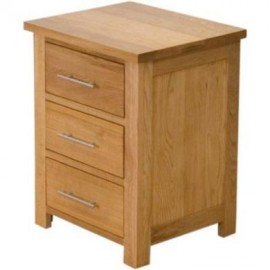 Modern Oak Classic 3 Drawer Oak Bedside.