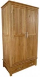 Modern Oak Classic Gents Oak Wardrobe