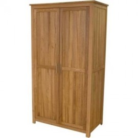 Modern Oak Classic Full Hanging Oak Wardrobe