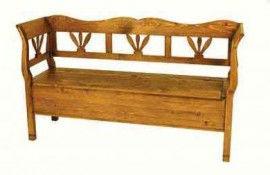 Tulip Pine Bench with storage
