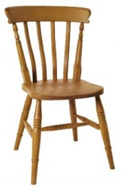 Amsterdam High-back Slat Beech Dining Chair