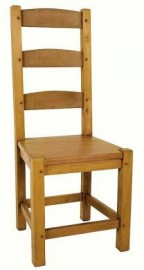 Amish Beech Dining Chair - solid seat