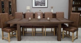 Walnut Large 2.6M Extending Dining Table
