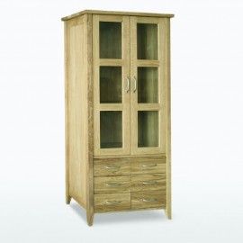 Windsor Bookcase with glass doors 6 drawers by Telnita