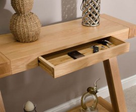 Z Oak Designer Console Table