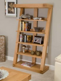 Z Oak Designer Large Bookcase