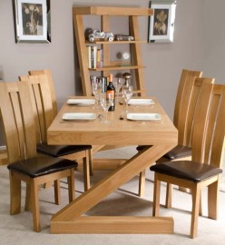 Z Oak Designer 6' X 3' Dining Table