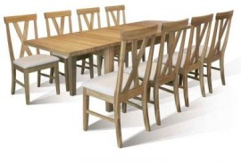 TCH Warwick Table and 8 Big Cross chairs