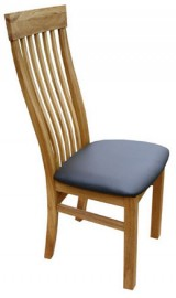 Swell chair with leather seat by Telnita